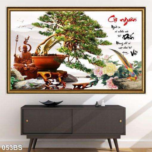tranh gạch 3d cây bonsai 0