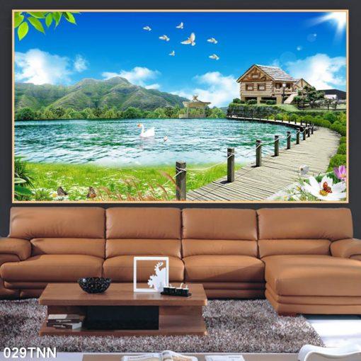 tranh gạch 3d phong cảnh thiên nhiên 0