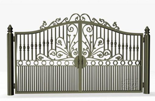 cổng sắt đẹp hiện đại 9