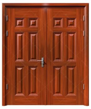 cửa sắt giả gỗ 21