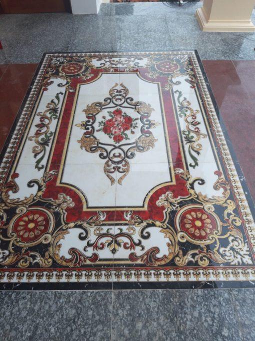 gạch thảm men sứ khắc kim 11