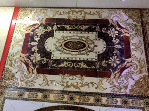 gạch thảm men sứ khắc kim 13