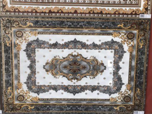 gạch thảm men sứ khắc kim 17