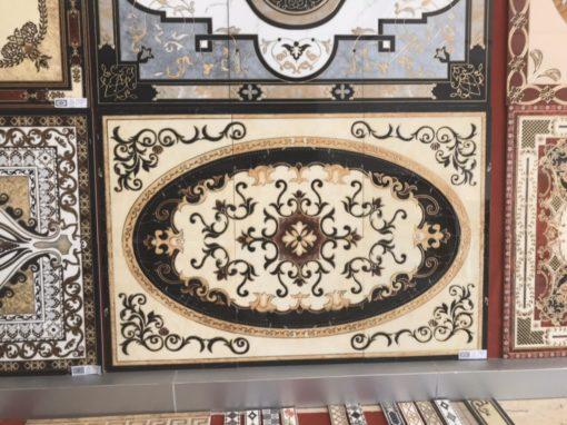 gạch thảm men sứ khắc kim 21