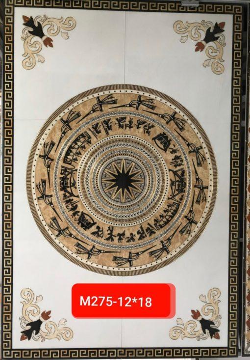 gạch thảm men sứ khắc kim 25