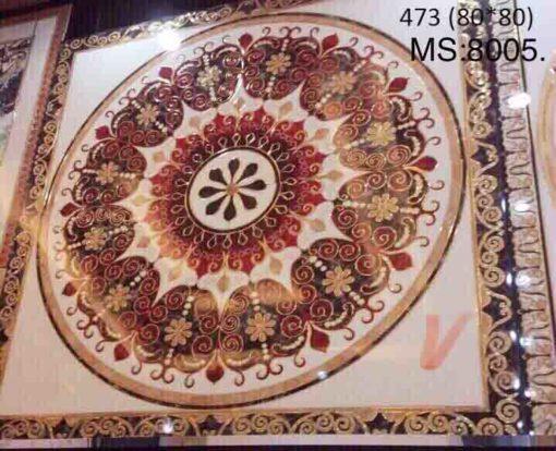 gạch thảm men sứ khắc kim 3