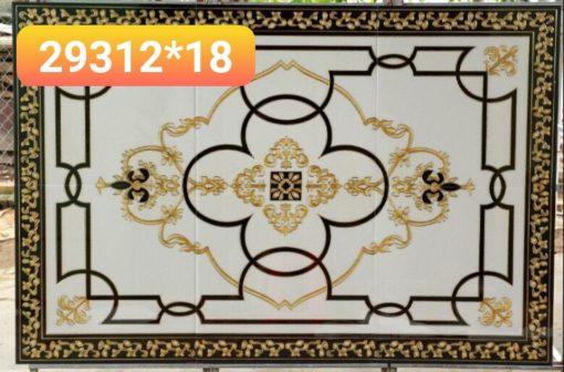 gạch thảm men sứ khắc kim 30
