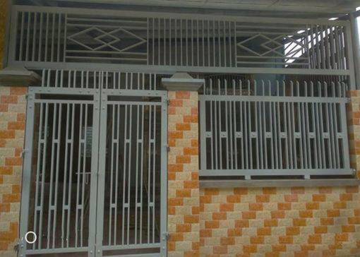 hàng rào sắt nghệ thuật 33