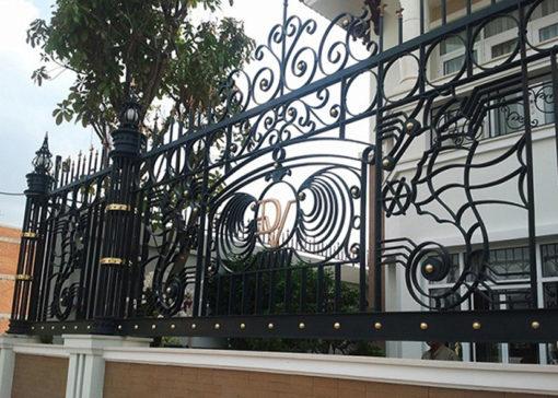 hàng rào sắt nghệ thuật 58