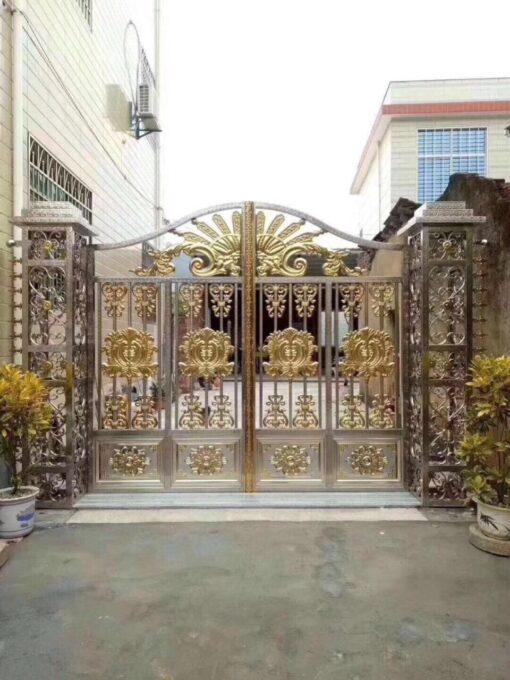 mẫu cổng inox đẹp 108