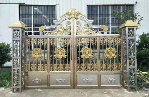 mẫu cổng inox đẹp 114
