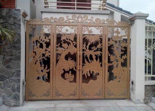 mẫu cổng inox đẹp 13
