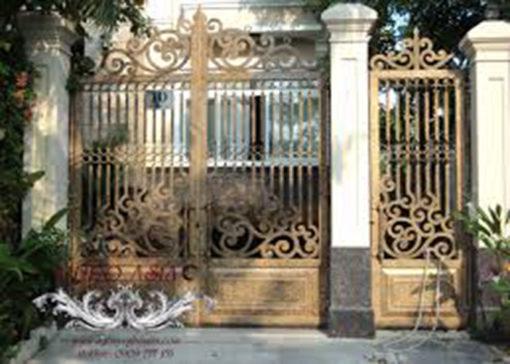 mẫu cổng inox đẹp 60