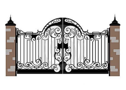 mẫu cổng inox đẹp 7