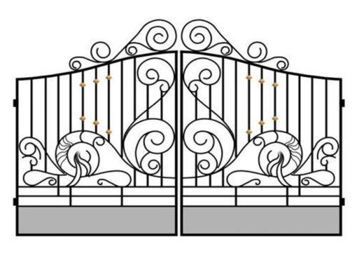 mẫu cổng inox đẹp 74