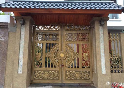 mẫu cổng inox đẹp 8