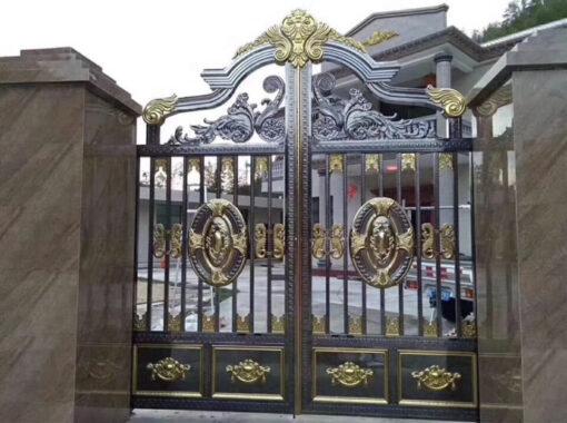 mẫu cổng inox đẹp 90