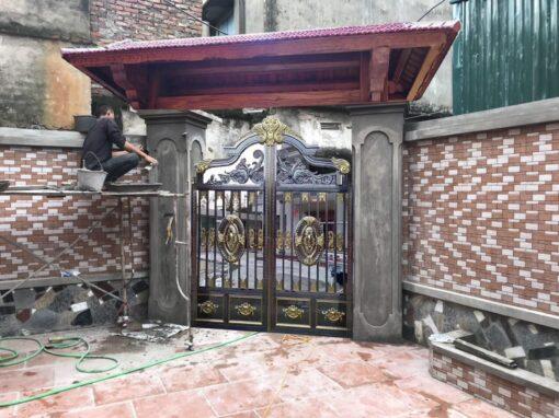 mẫu cổng inox đẹp 99