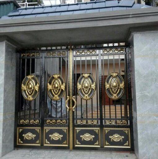cổng inox mạ màu đẹp 05