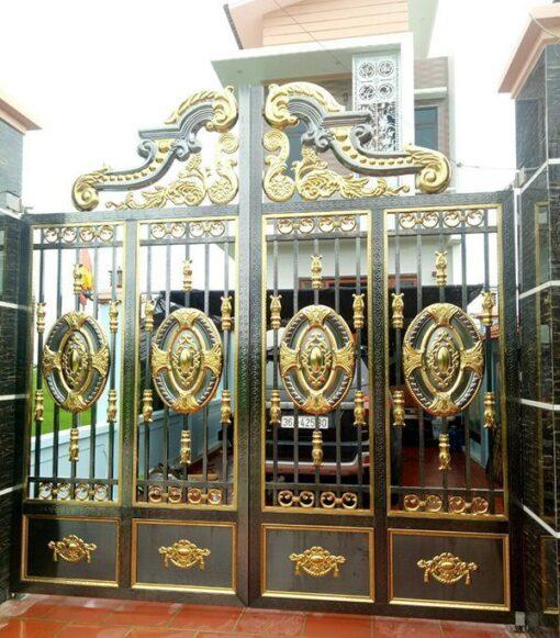 cổng inox mạ màu đẹp 1