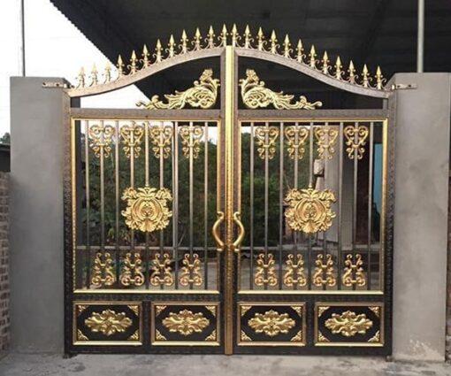 cổng inox mạ màu đẹp 12