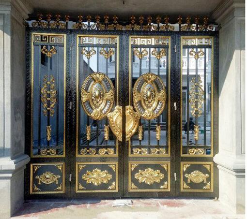cổng inox mạ màu đẹp 13