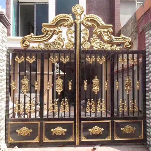 cổng inox mạ màu đẹp 14