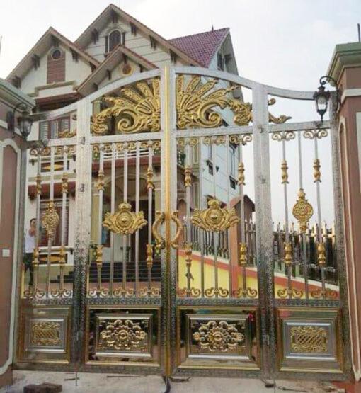 cổng inox mạ màu đẹp 15