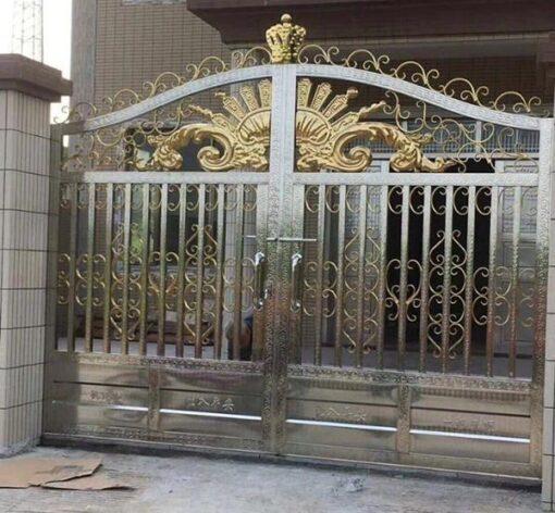 cổng inox mạ màu đẹp 17