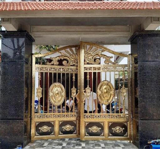 cổng inox mạ màu đẹp 19