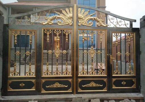 cổng inox mạ màu đẹp 2