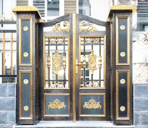 cổng inox mạ màu đẹp 21
