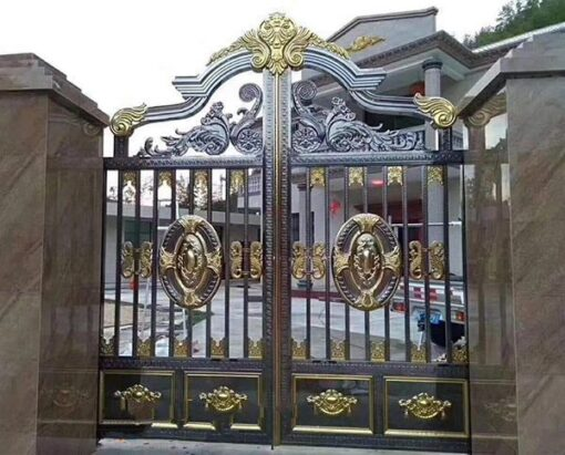 cổng inox mạ màu đẹp 22