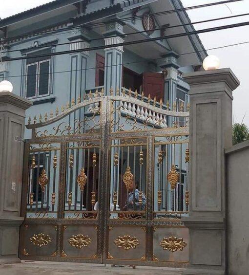 cổng inox mạ màu đẹp 24