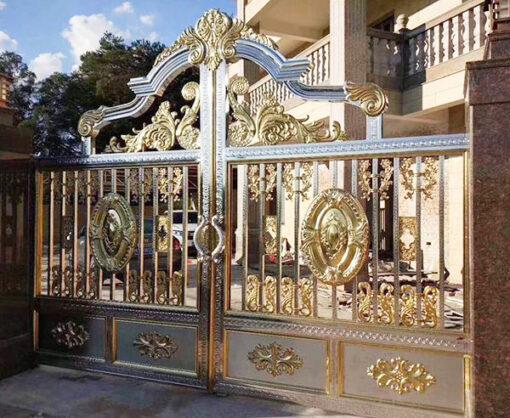 cổng inox mạ màu đẹp 25