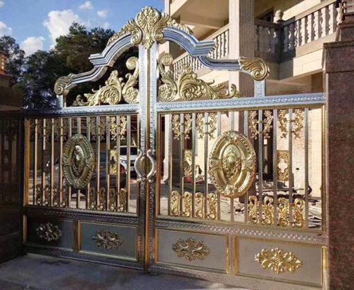 cổng inox mạ màu đẹp 26