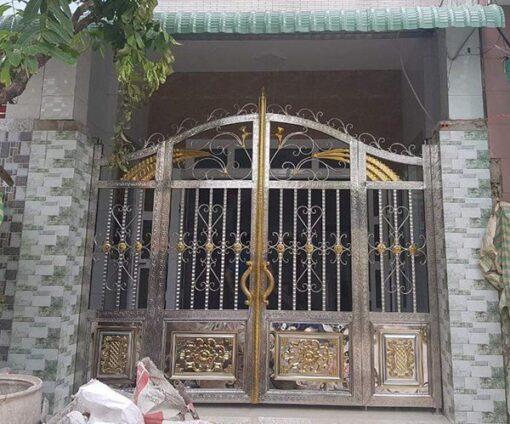 cổng inox mạ màu đẹp 27