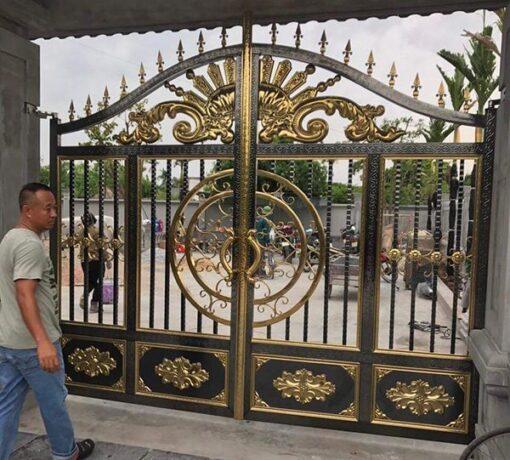 cổng inox mạ màu đẹp 29