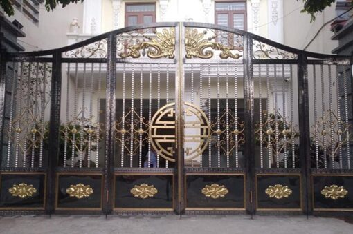 cổng inox mạ màu đẹp 3