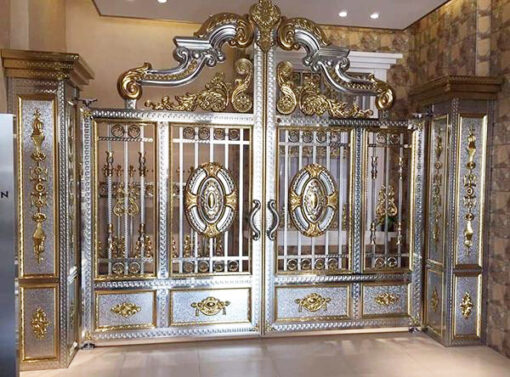 cổng inox mạ màu đẹp 31