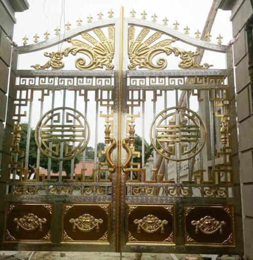 cổng inox mạ màu đẹp 32