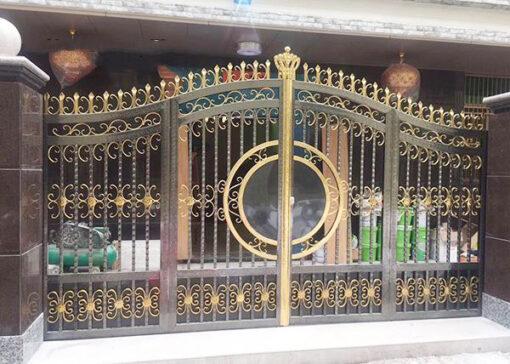 cổng inox mạ màu đẹp 33