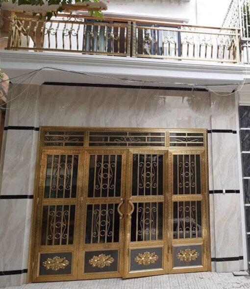 cổng inox mạ màu đẹp 36