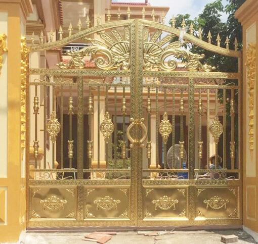 cổng inox mạ màu đẹp 4