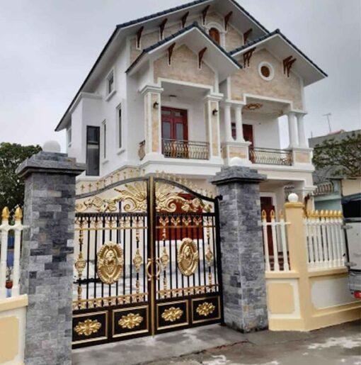 cổng inox mạ màu đẹp 40