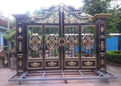 cổng inox mạ màu đẹp 41