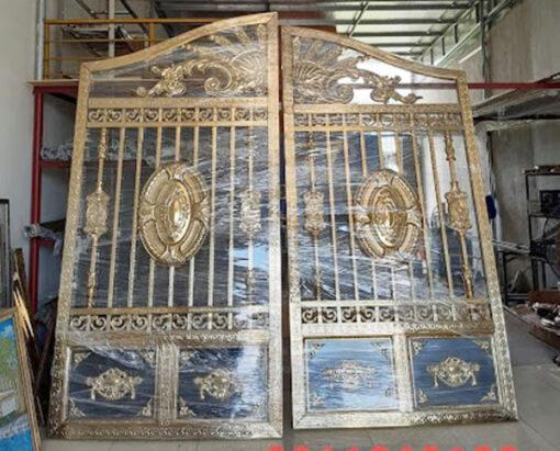 cổng inox mạ màu đẹp 43