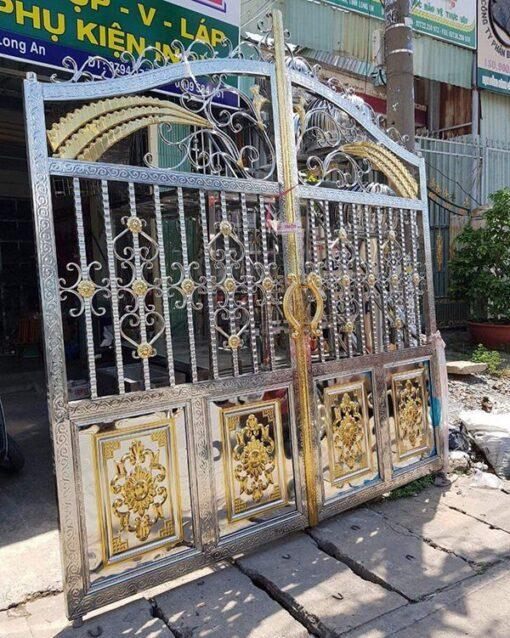 cổng inox mạ màu đẹp 44
