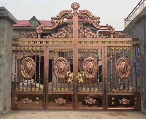 cổng inox mạ màu đẹp 47