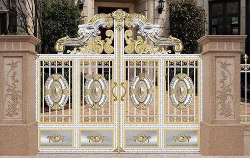 cổng inox mạ màu đẹp 48